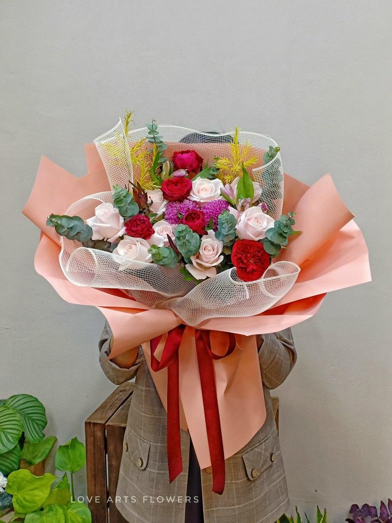 10 bó hoa đẹp nhất làm quà tặng nhân ngày Quốc tế Phụ nữ 8/3