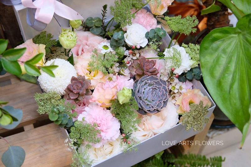 Hoa tươi mix sen đá - Sự kết hợp ấn tượng của nhà Love Arts